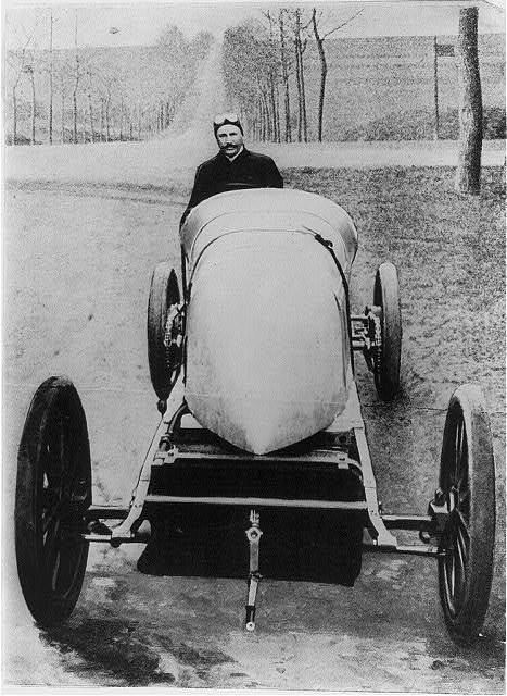 Henry Fournier in his racer [automobile]