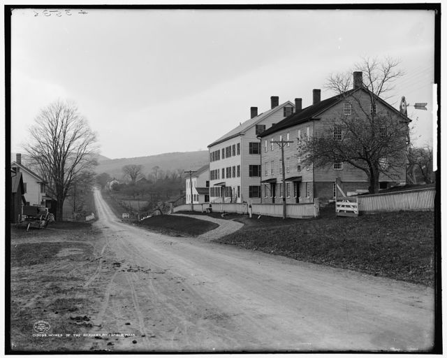Homes of the Shakers, Pittsfield [i.e. Hancock], Mass.