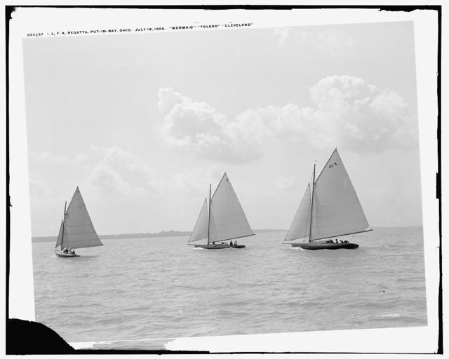 I.L.Y.A. [Inter-Lake Yachting Association] regatta, Put-in-Bay, Ohio: Mermaid, Toledo, Cleveland