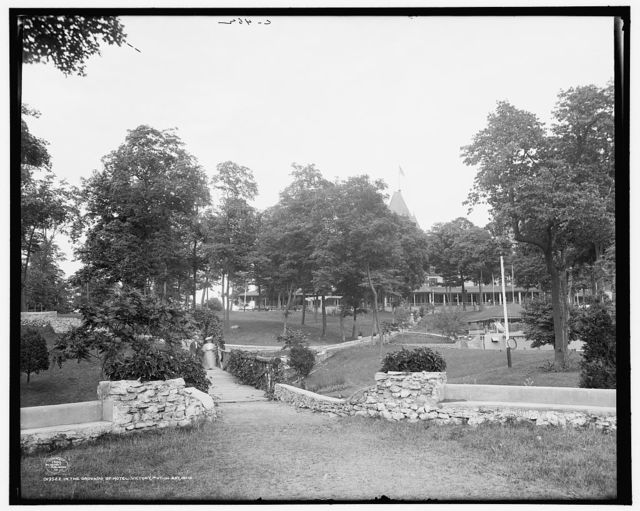 In the grounds of Hotel Victory, Put-in-Bay, Ohio