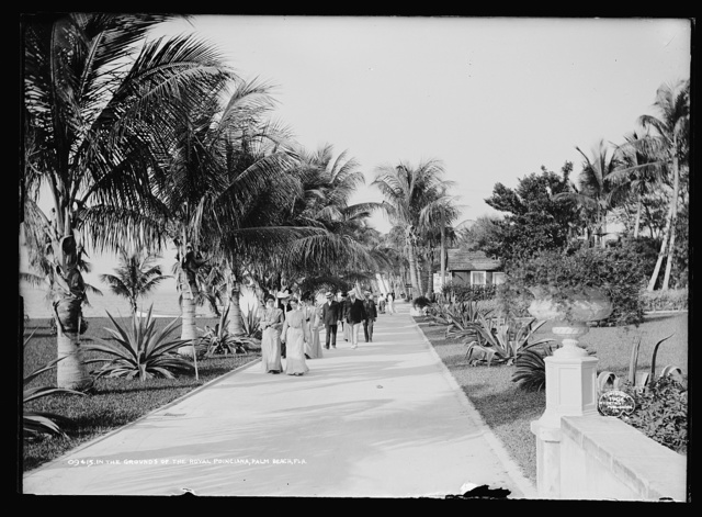 In the grounds of the Royal Poinciana, Palm Beach, Fla.