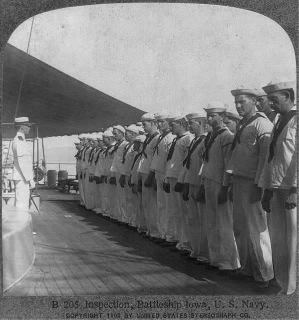 Inspection, Battleship IOWA, U.S. Navy