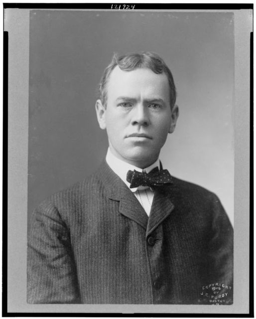 [James Brendan Connolly, Olympic gold medal winner, head-and-shoulders portrait, facing front]