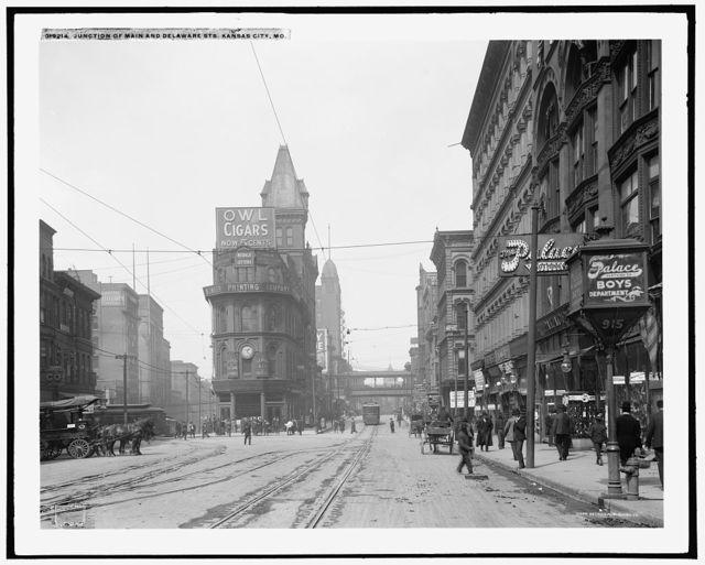 Junction of Main and Delaware Sts., Kansas City, Mo.