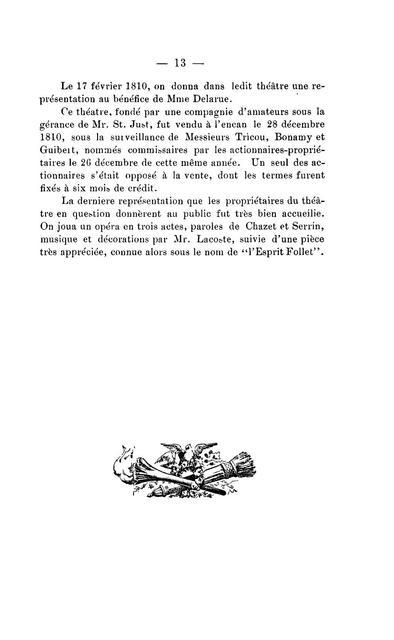 Le théâtre-français, à la Nlle Orleans. Essai historique (Année 1791-Année 1906)