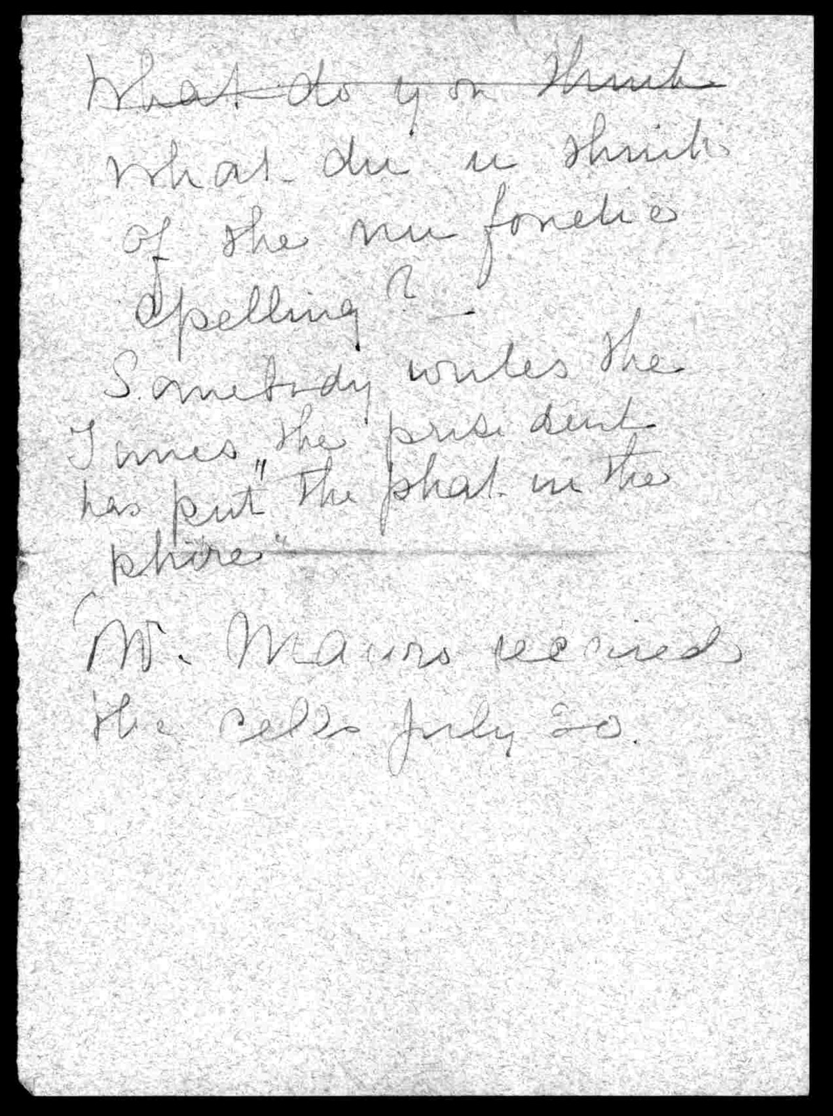 Letter from Mabel Hubbard Bell to Alexander Graham Bell, August 26, 1906