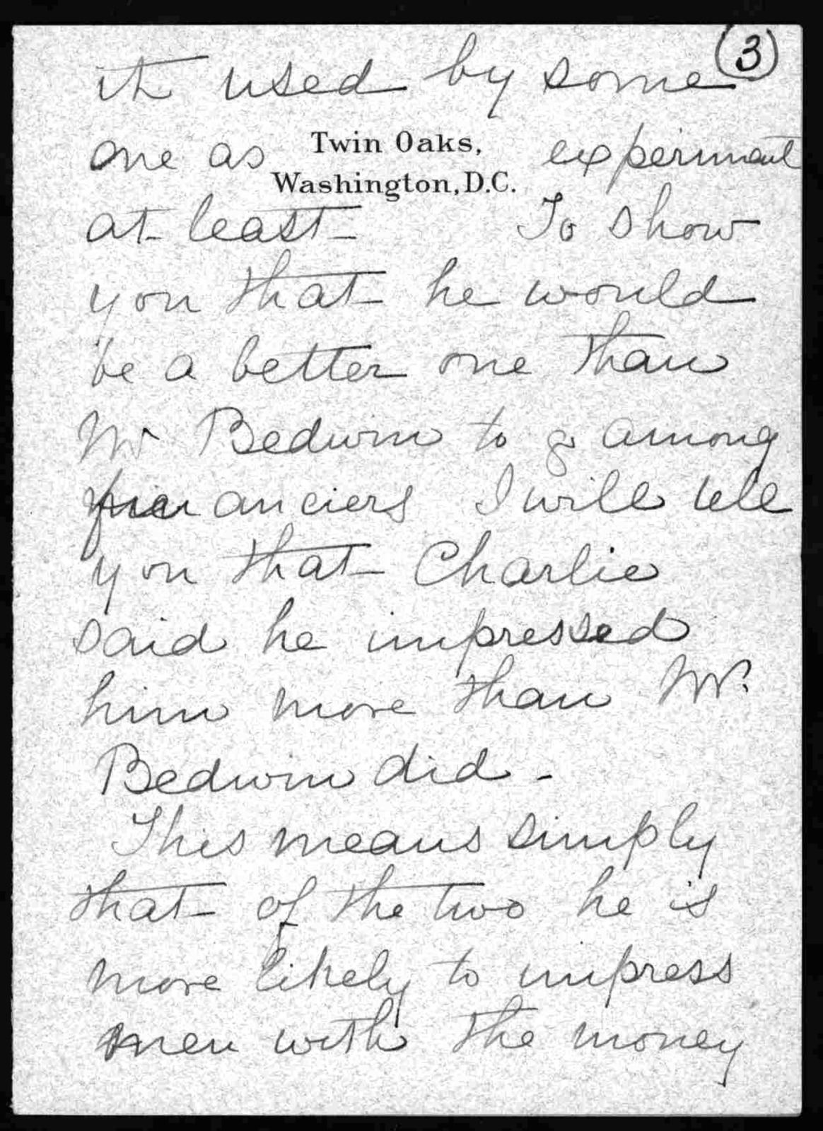 Letter from Mabel Hubbard Bell to Alexander Graham Bell, August 28, 1906