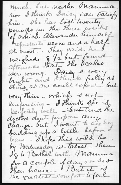 Letter from Mabel Hubbard Bell to Alexander Graham Bell, September 9