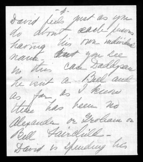 Letter from Marian Bell Fairchild to Alexander Graham Bell, August 27, 1906