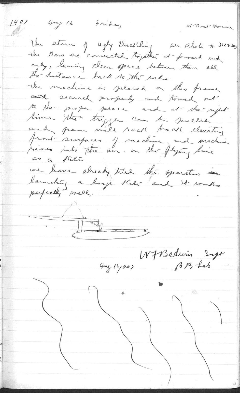 Notebook by Alexander Graham Bell and W. F. Bedwin, from June 9, 1906 to November 8, 1907