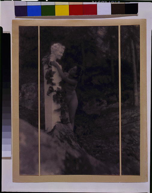 [Nude youth with laurel wreath embracing Herm of Pan]