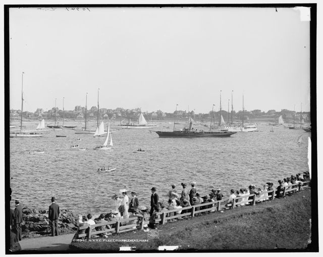 N.Y.Y.C. fleet, Marblehead, Mass.