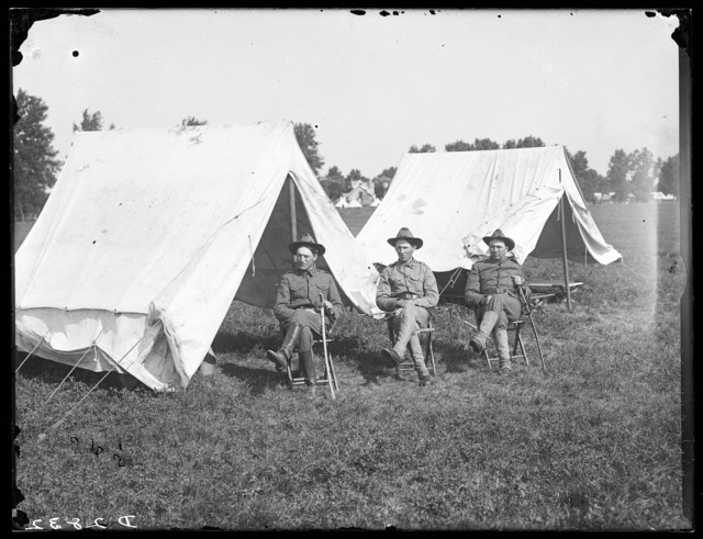 Officers of the First Regiment of the Nebraska National Guard at Kearney, Nebraska.