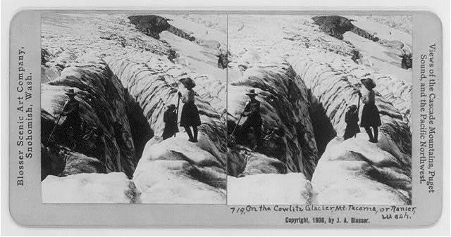 On the Cowlitz Glacier, Mt. Tacoma, or Rainier, Wash.