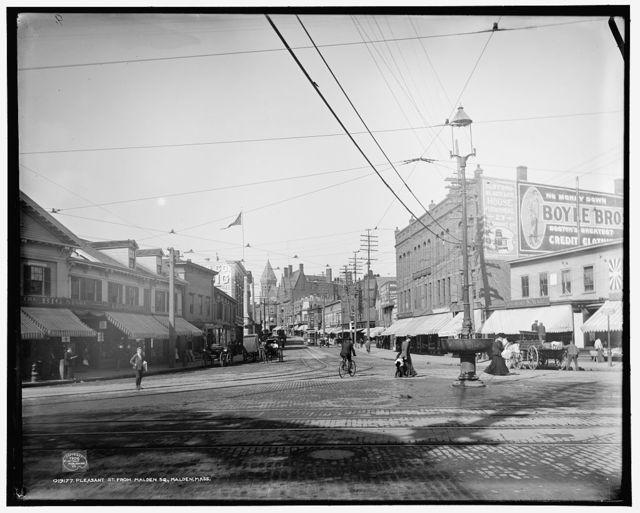 Pleasant St. from Malden Sq., Malden, Mass.