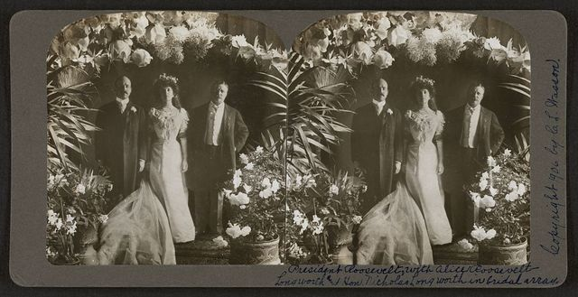 President Roosevelt, with Alice Roosevelt-Longworth and Hon. Nicholas Longworth in bridal array.