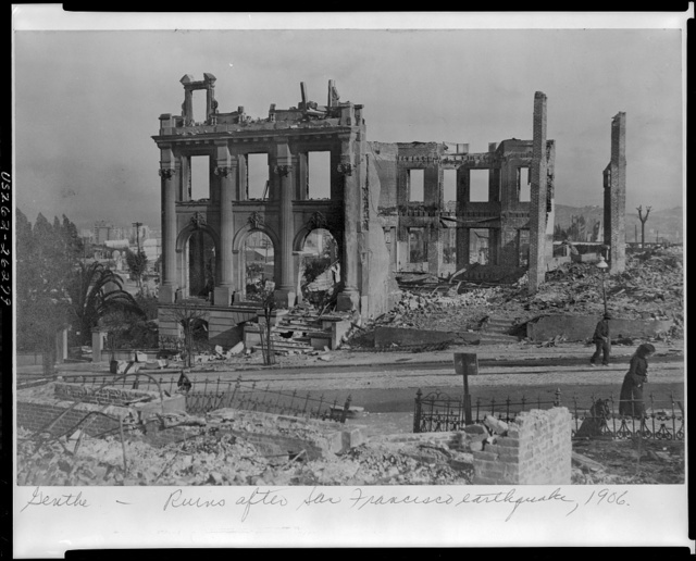 Ruins after San Francisco earthquake, 1906 / Genthe.