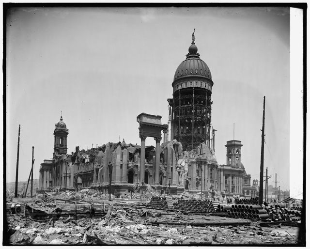 Ruins of City Hall, [1906 earthquake, San Francisco, Calif.]