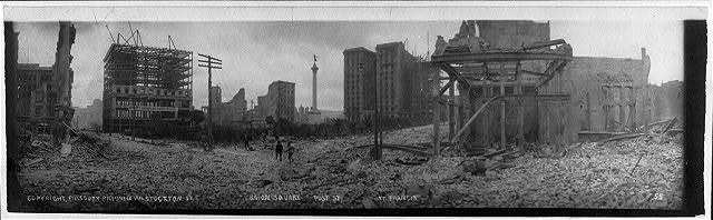 Ruins of earthquake and fire, San Francisco, Calif.