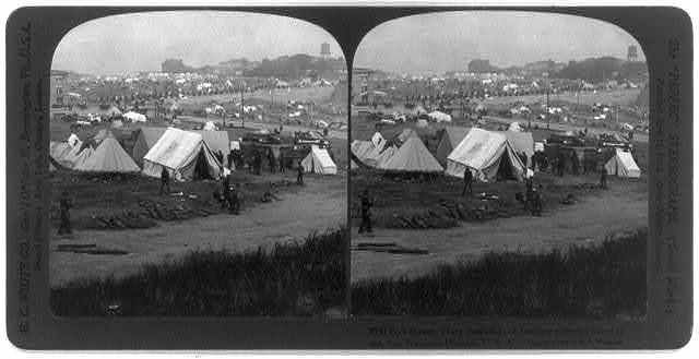 San Francisco earthquake, 1906: Fort Mason, where thousands of destitute sufferers found relief
