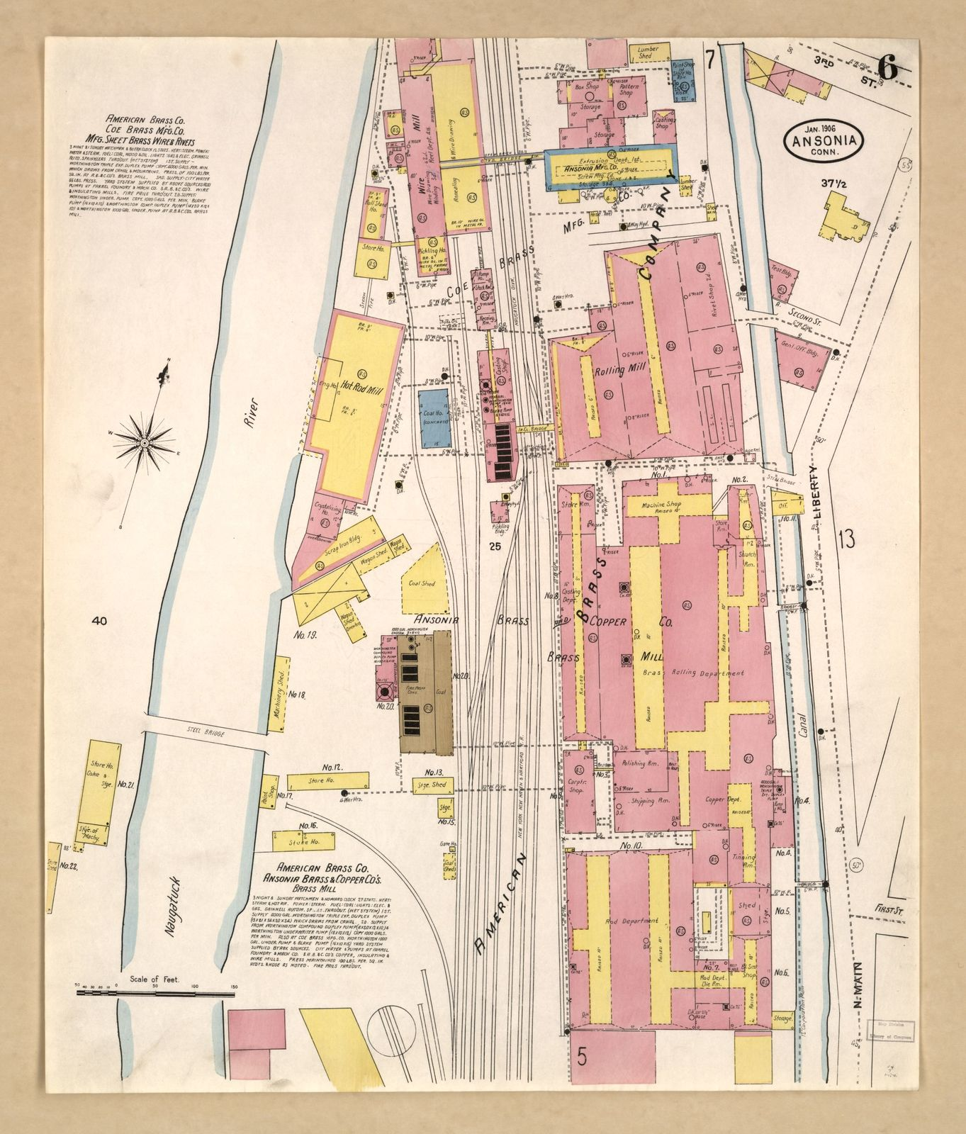 Sanborn Fire Insurance Map from Ansonia, New Haven County, Connecticut.