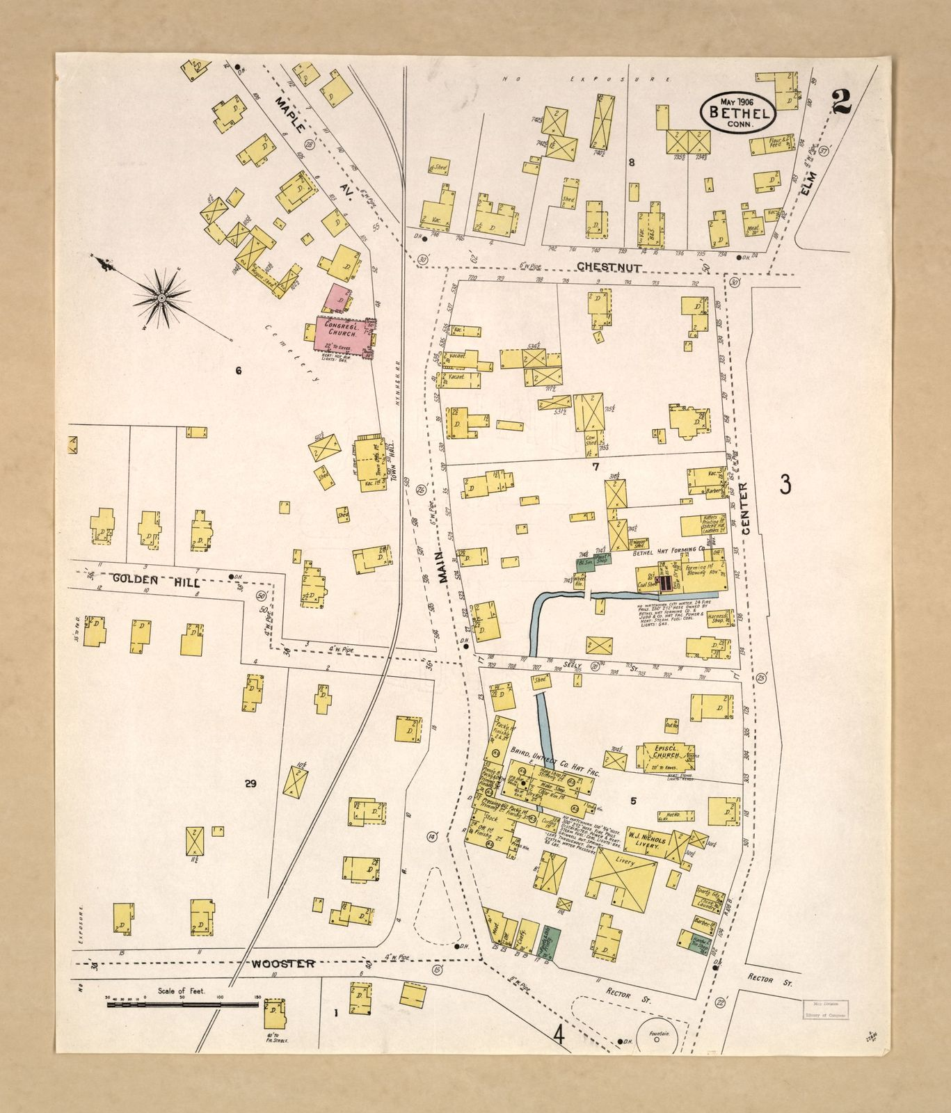Sanborn Fire Insurance Map From Bethel Fairfield County