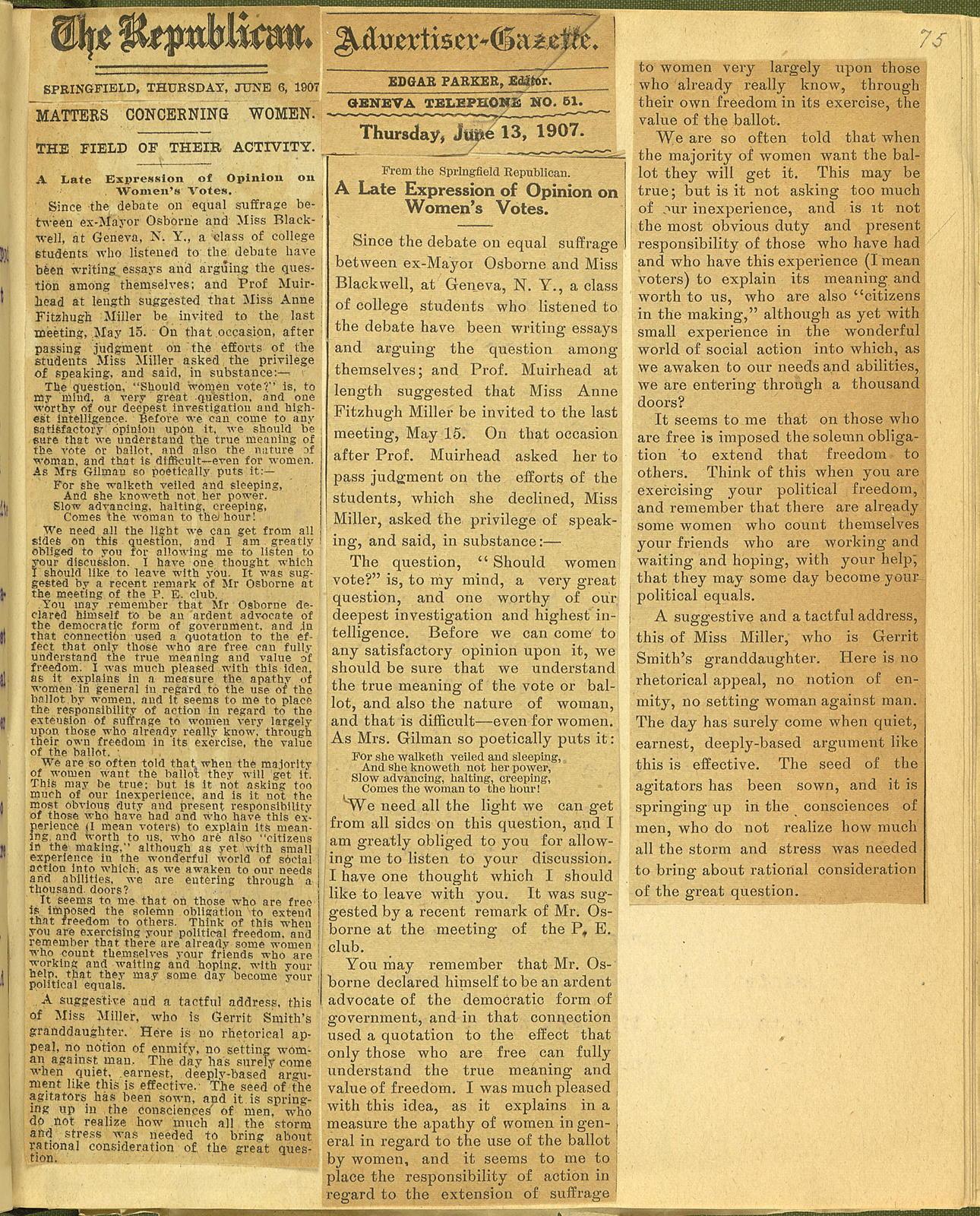Scrapbook 1906-1907