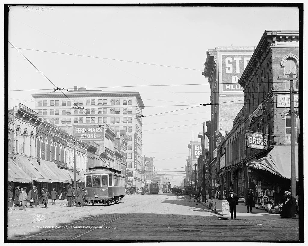 Second Avenue, looking east, Birmingham, Ala.