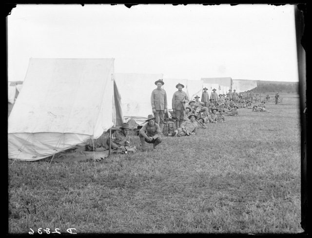 Second Regiment of the Nebraska National Guard outside their tents at Kearney, Nebraska