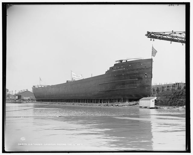 S.S. James Laughlin before the launch