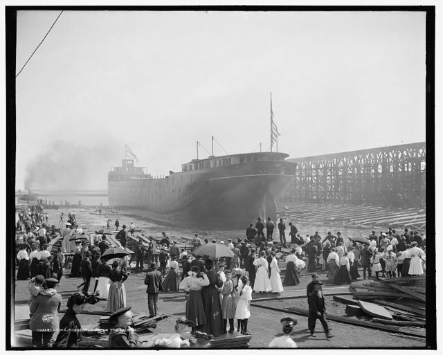 S.S. W.E. Fitzgerald after the launch
