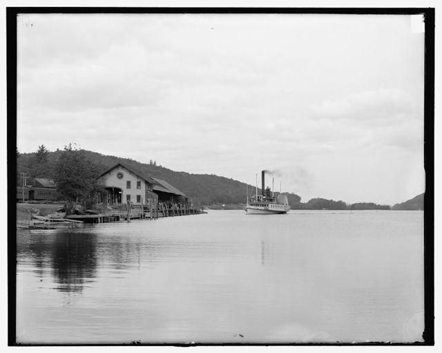 [Steamer landing at Alton Bay, Lake Winnipesaukee, N.H.]