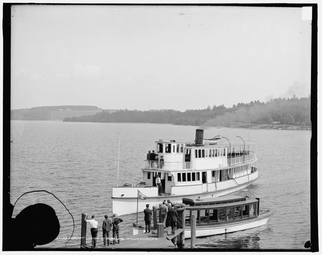 Str. Governor Endicott landing at Weirs, Lake Winnipesaukee, N.H.