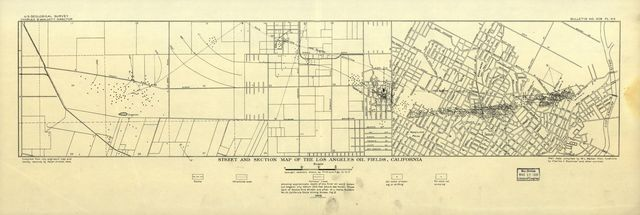 Street and section map of the Los Angeles oil fields, California /