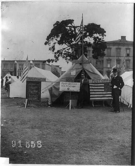 [Tent post office used after the San Francisco earthquake and fire]