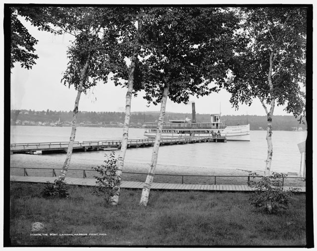 The Boat landing, Harbor Point, Mich.