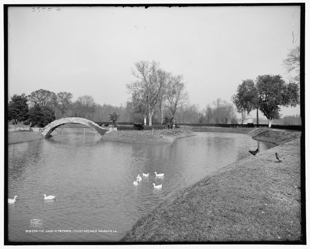 The Lake in Metairie Cemetery, New Orleans, La.