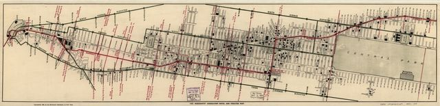 The Merchants' Association hotel and theater map.