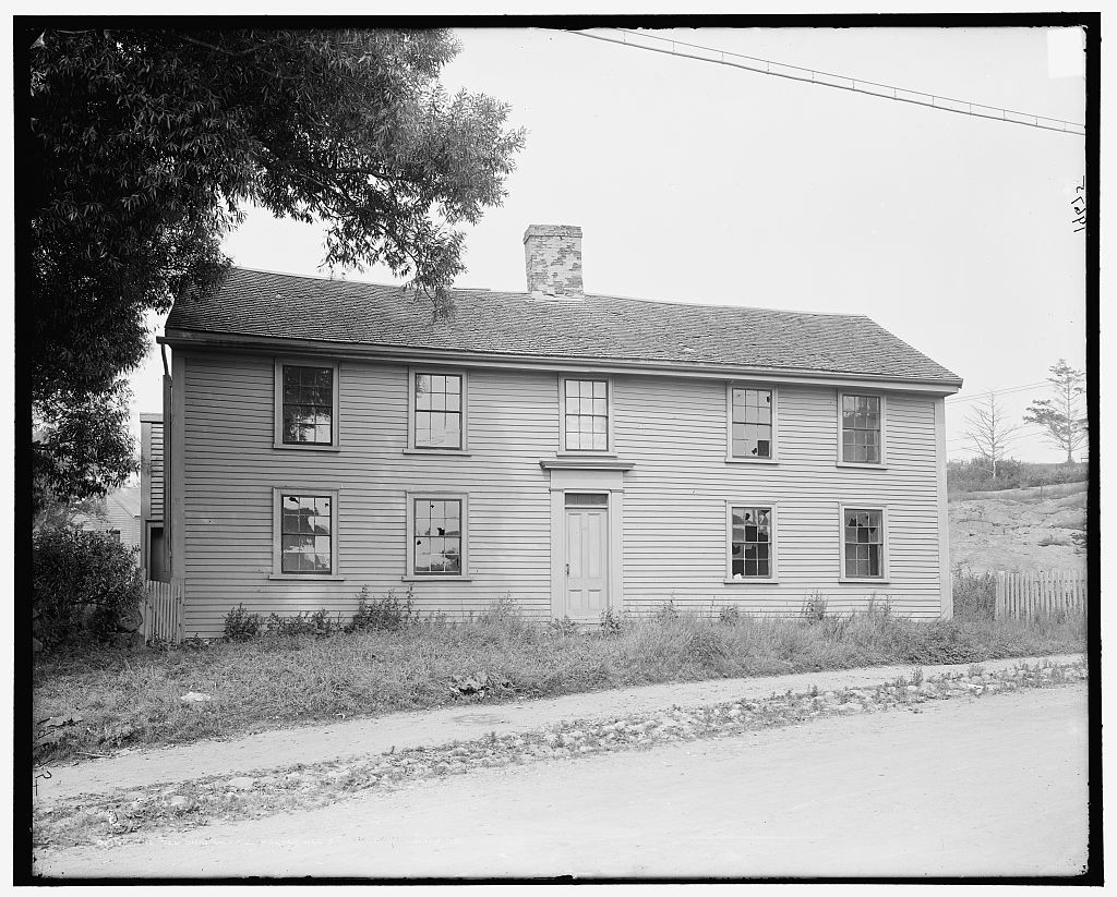"""The """"Old Brig"""" or Moll Pitcher House, Marblehead, Mass."""