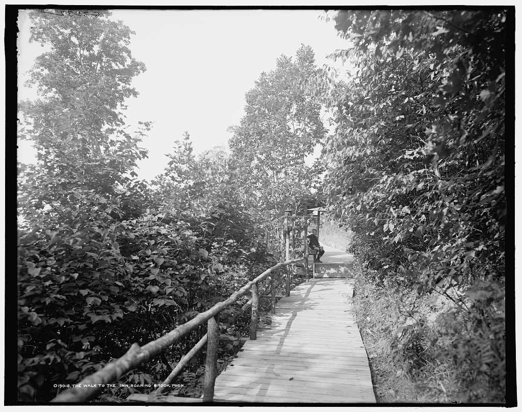 The Walk to the inn, Roaring Brook, Mich.