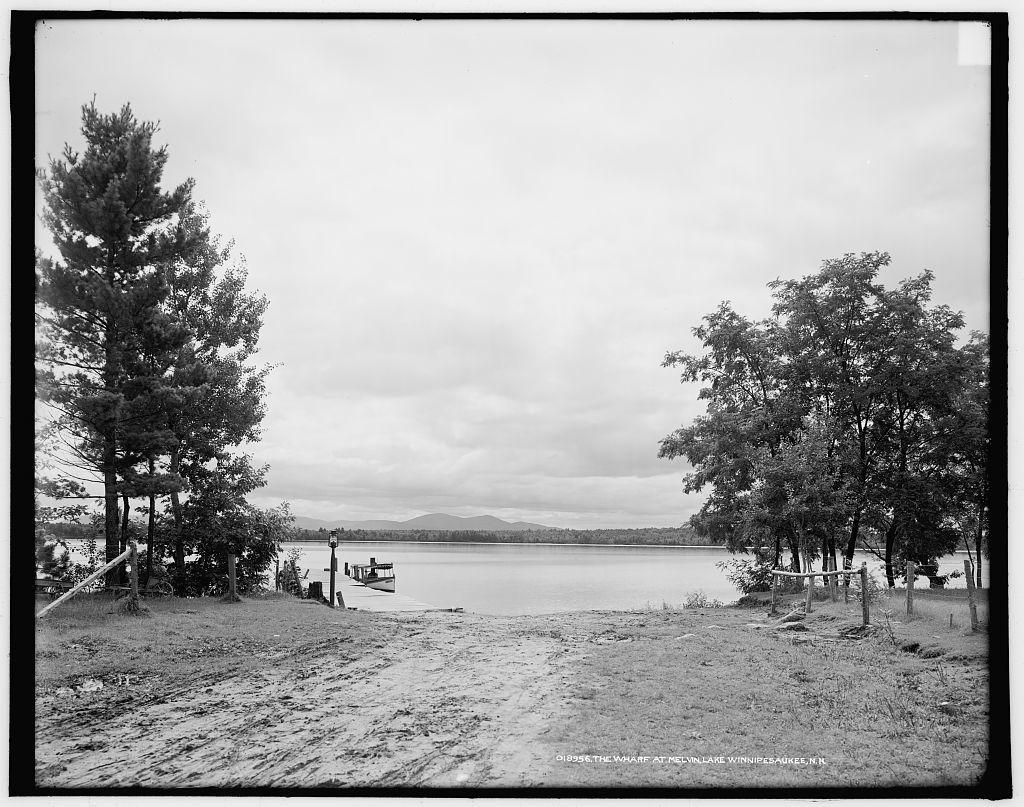 The Wharf at Melvin [i.e. Tuftonboro], Lake Winnipesaukee, N.H.