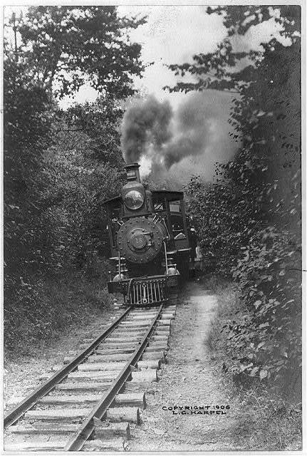 Through the woods on the narrow gauge, Mt. Gretna, Pa.