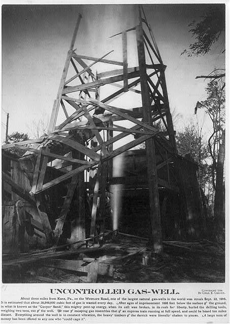 Uncontrolled gas well