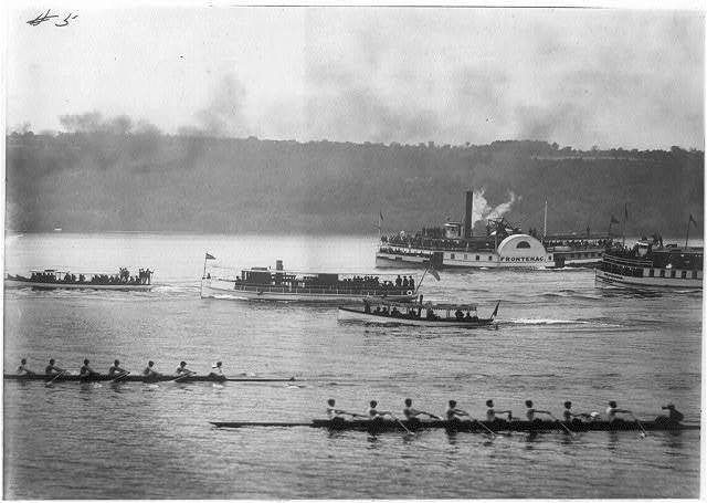 University of Pennsylvania and Cornell--Junior Eights, 1906, at 1 1/2 mile