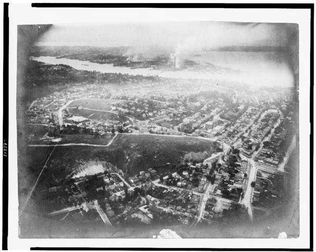 [View of Staten Island, New York City, from balloon]
