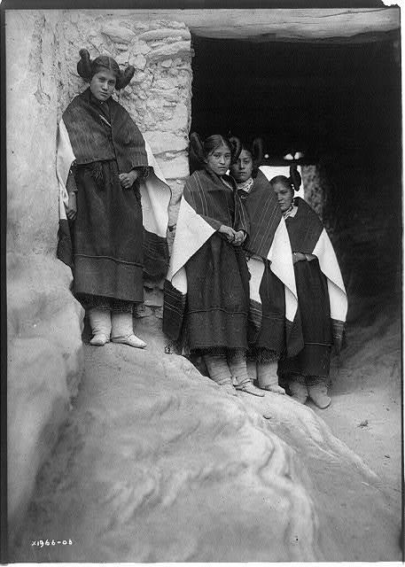Walpi maidens--Hopi
