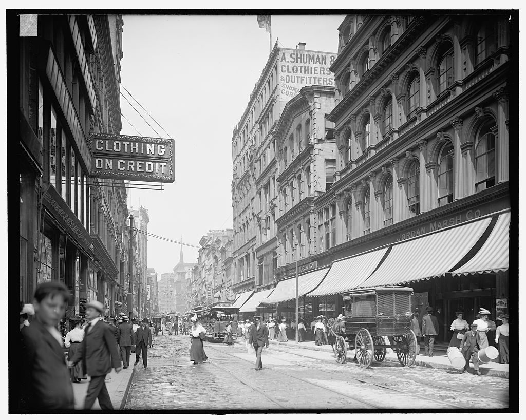 [Washington Street, north from Temple Place, Boston, Mass.]