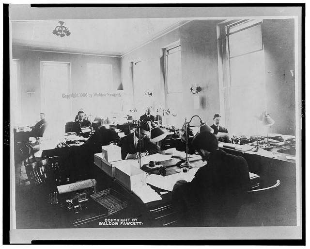 White House business office employees at work