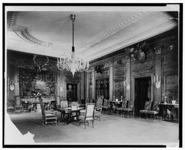 [White House state dining room, north and east sides, Washington, D.C.]