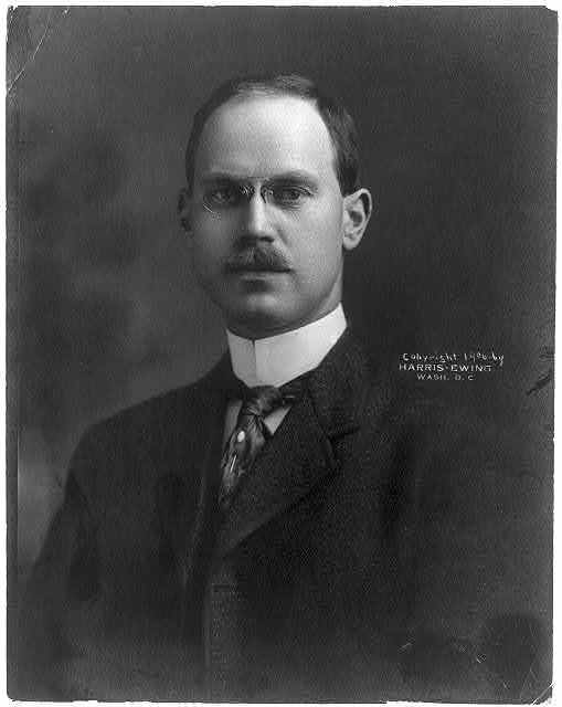 [Wilbur John Carr, 1870-1942, head and shoulders portrait, facing slightly left. Chief Clerk of State Dept.; head of Consular Service]